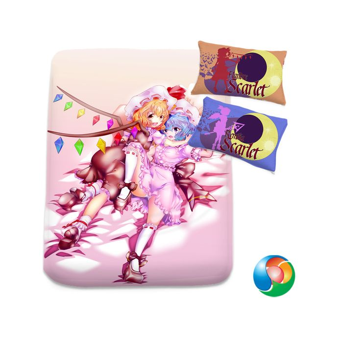 Touhou Scarlet Sisters by daronzo83 Bed Sheet or Duvet Cover