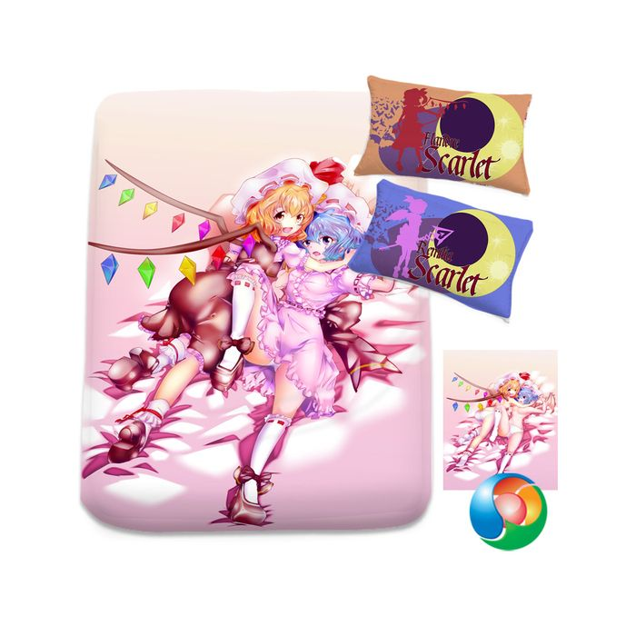 Touhou Scarlet Sisters by daronzo83 Two Sided Duvet Cover