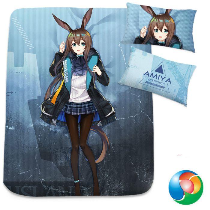 Arknights Amiya Anime Bed Sheet or Duvet Cover