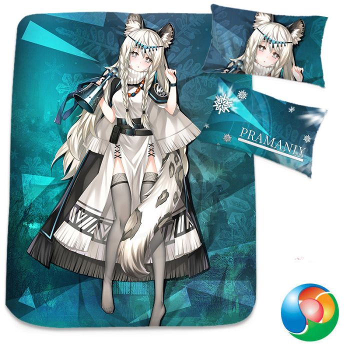 Arknights Pramanix Anime Bed Sheet or Duvet Cover