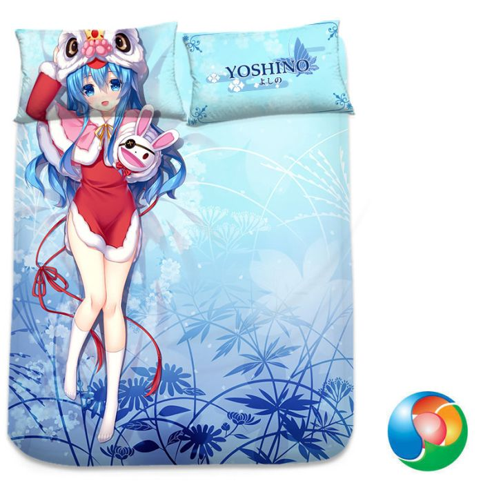 Date A Live Yoshino Anime Bed Sheet or Duvet Cover