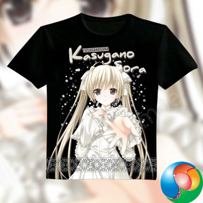 Yosuga no Sora Full Color T-Shirt Black Tee