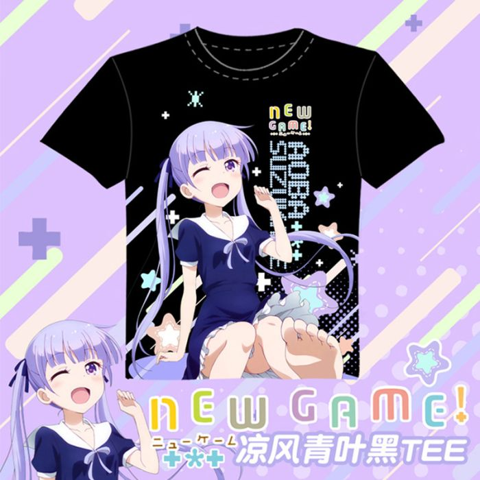 New Game! Full Color T-Shirt Black Tee