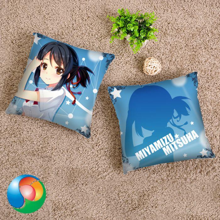 Your Name Mitsuha Miyamizu Throw Pillow Cover