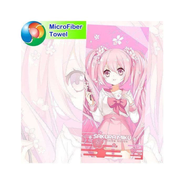 Hatsune Miku Microfiber Hand and Bath Towel