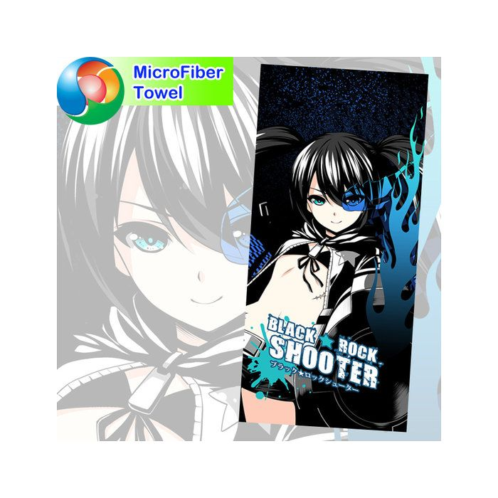 Black Rock Shooter Microfiber Hand and Bath Towel
