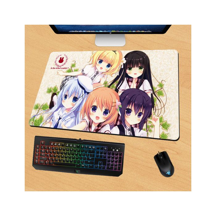 Is the Order a Rabbit? Gaming Mouse Pad Desk Pad Playmat