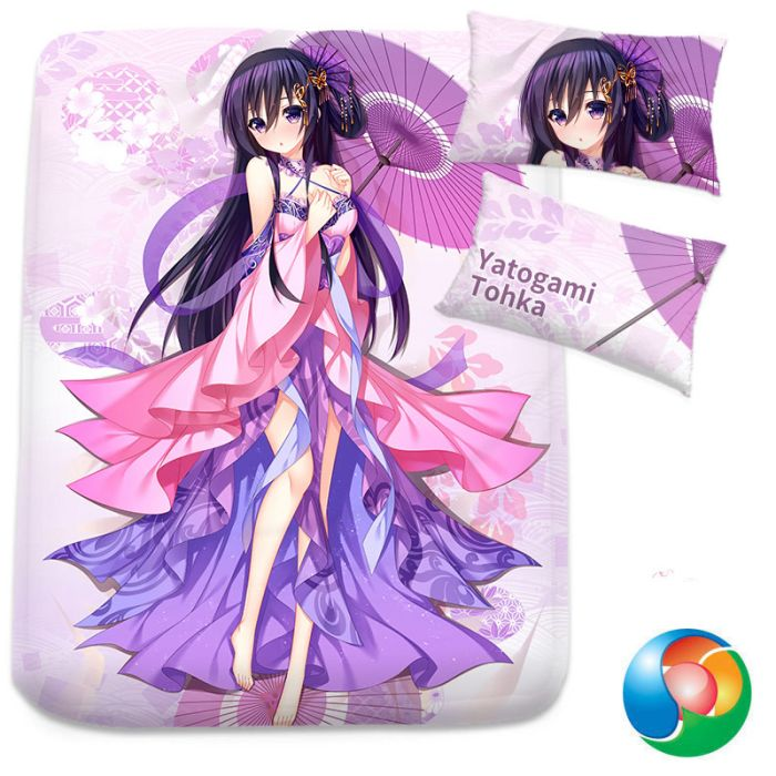 Date A Live Yatogami Tooka Anime Bed Sheet or Duvet Cover